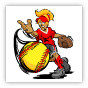 Fastpitch Softball Pitcher Clipart Image