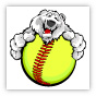 Fastpitch Polar Bear Clipart