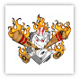 Flaming Baseball Plate Clipart Image