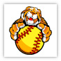 Tiger Fastpitch Softball Clipart Image