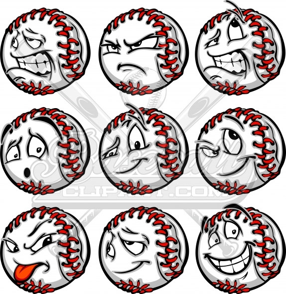 Baseball Facial Expressions with a Variety of Facial Expressions