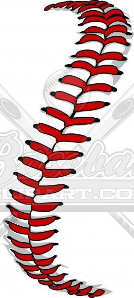 Baseball Laces Clipart or Softball Laces Vector Image