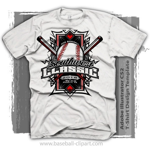 Easy to Edit Tournament Baseball T Shirt Design Template Vector Format