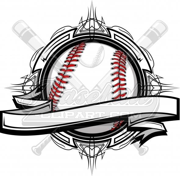 Baseball Vector Clipart – Baseball Logo Graphic Template