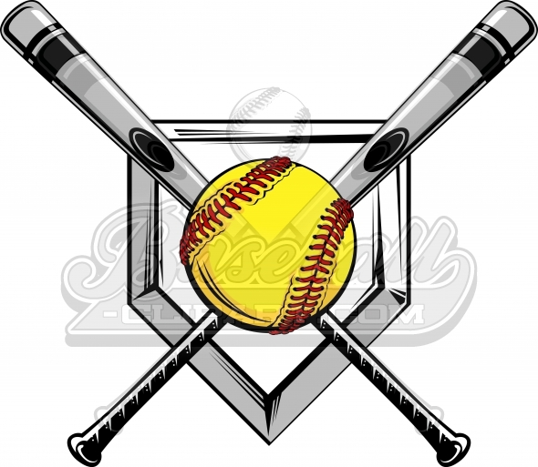 fastpitch clipart logo vector image rh baseball clipart com softball logos free softball logos designs