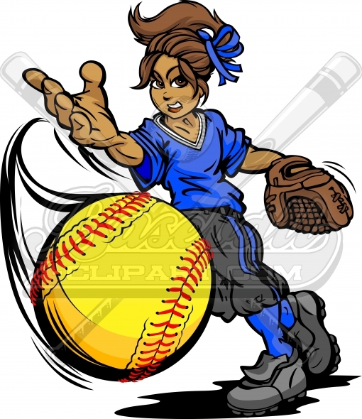 fastpitch softball clipart vector clipart image rh baseball clipart com Softball Bat Clip Art Fastpitch Softball Logo