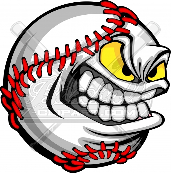 Baseball Clipart Cartoon Vector Image