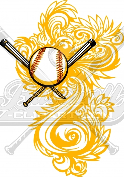 Vector Baseball Clipart Design