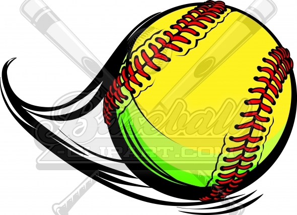 Fastpitch Softball Clipart Vector Image