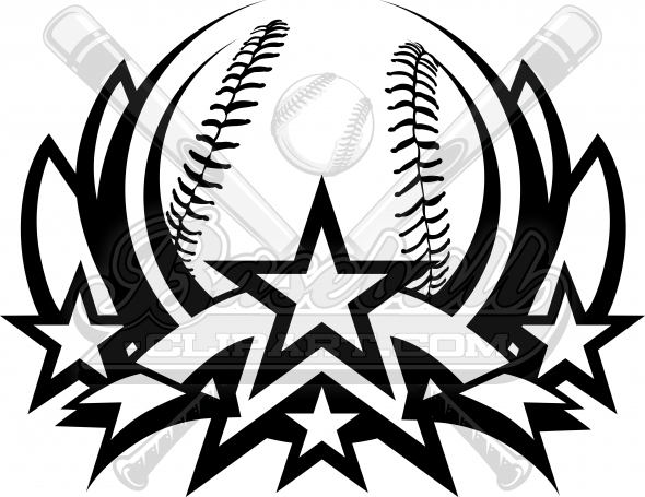 Baseball Clipart Logo Vector Graphic Template