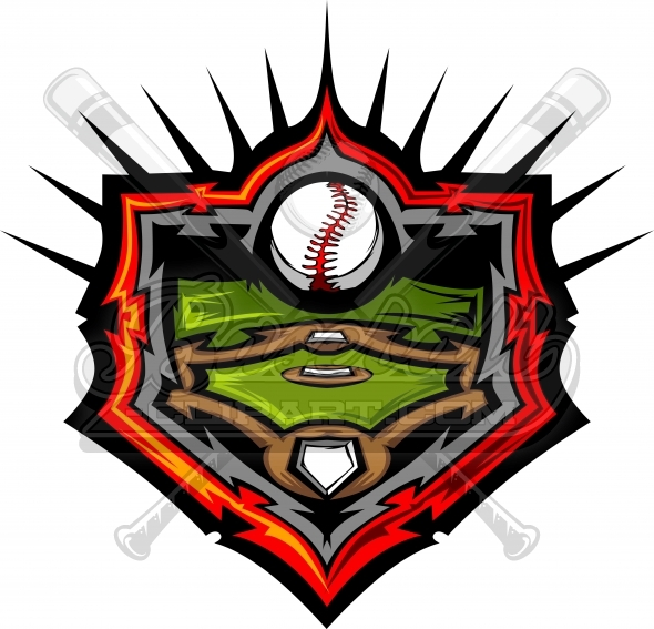 Baseball Field Design Vector Clipart Image