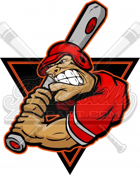 Baseball Batter Cartoon – Clipart Image of a Baseball Player