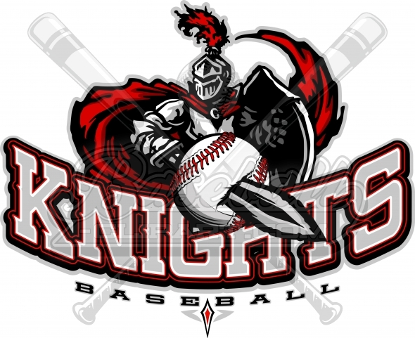 Knights baseball logo vector clipart image knights baseball logo baseball team clipart with knights text sciox Image collections