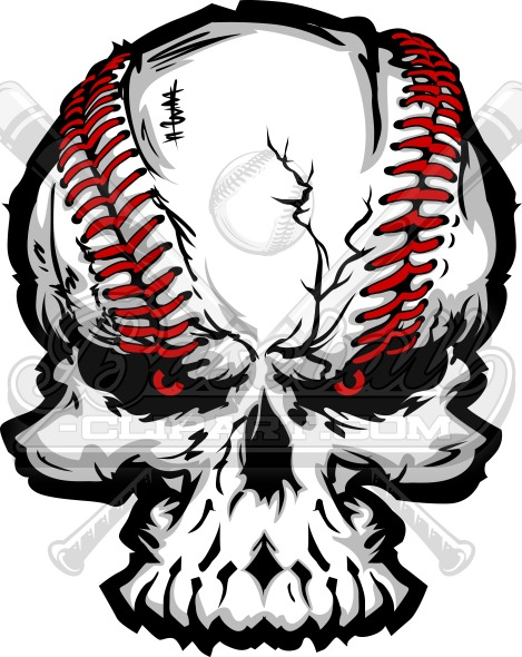 baseball skull vector art vector graphic rh baseball clipart com skull vector art free skull vector free download