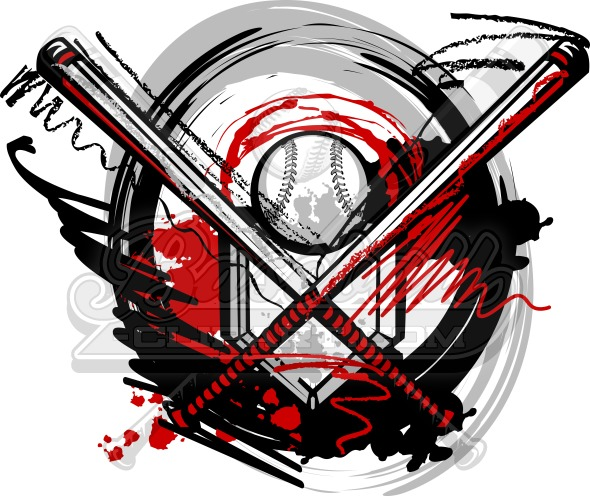 Softball Vector Art – Sports Clipart Design