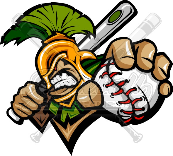 Trojan Baseball Clipart Graphic