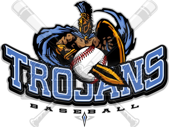 baseball logo trojans vector graphic rh baseball clipart com baseball logo design software baseball logo designer free