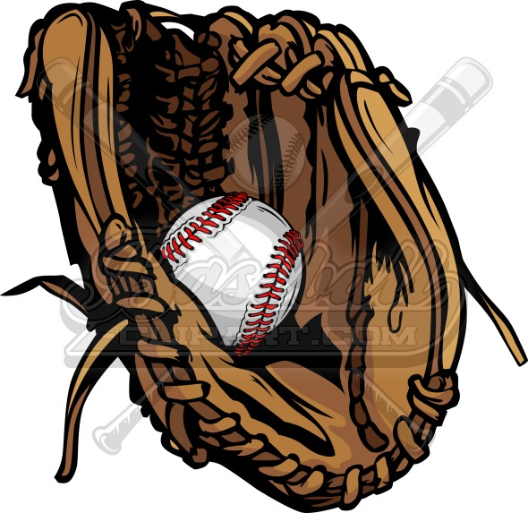 Vector Baseball Glove – Sports Clipart Image