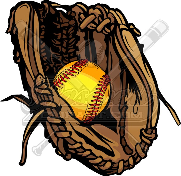 vector softball glove vector graphic rh baseball clipart com